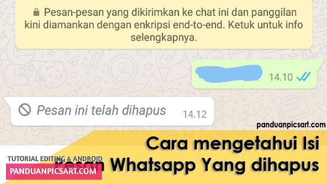 Cara Membaca Pesan WhatsApp Yang Sudah di Hapus