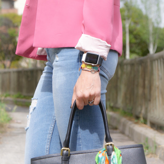 La Caprichossa, blog de moda, outfit primavera, LOOK Pink Jacket & Yellow Sneakers