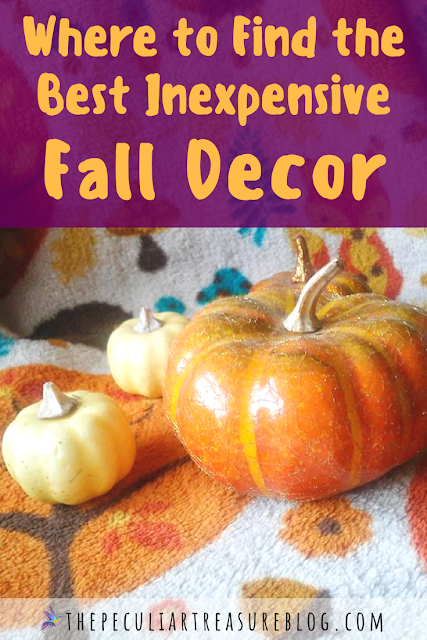 Beautiful Fall Decor On a Budget. Where to find pretty, cheap Fall Decor. #Fall #decor #home