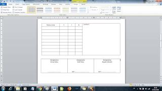 contoh agenda kelas