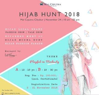 cara mengikuti mendaftar di audisi hijab hunt 2018 mall ciputra