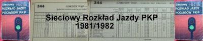 Sieciowy Rozkład Jazdy Pociągów 1981/1982