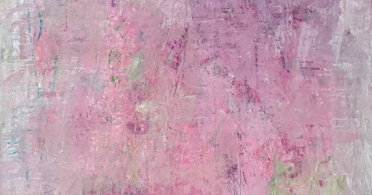 SWEET PINK ,60x40 Acrylic on canvas by contemporary expressionist French born artist Isabelle Gautier