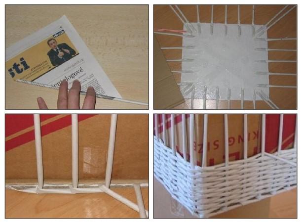 cara membuat keranjang dari koran bekas