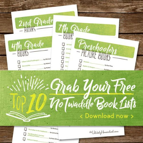FREE Printable Top 10 Books Lists for every age {tots to tweens} #homeschooling