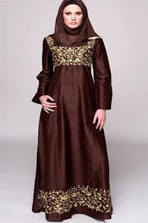 Model Gamis Batik Kombinasi Cardigan