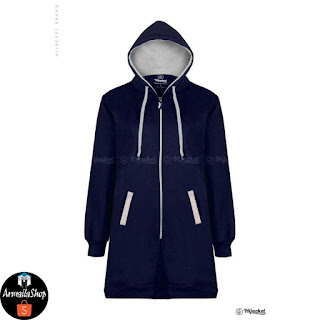 HJ1 Hijacket Basic Navy x Grey PREMIUM FLEECE Hijacket Original