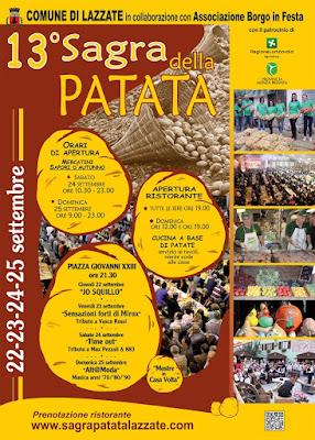Sagra della Patata dal 22 al 25 settembre Lazzate (MB) 2016