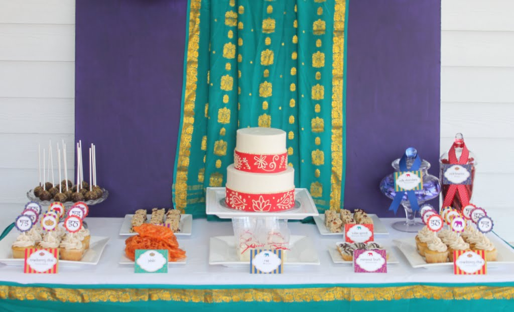 Mirabelle Creations Party Golden Indian 50th