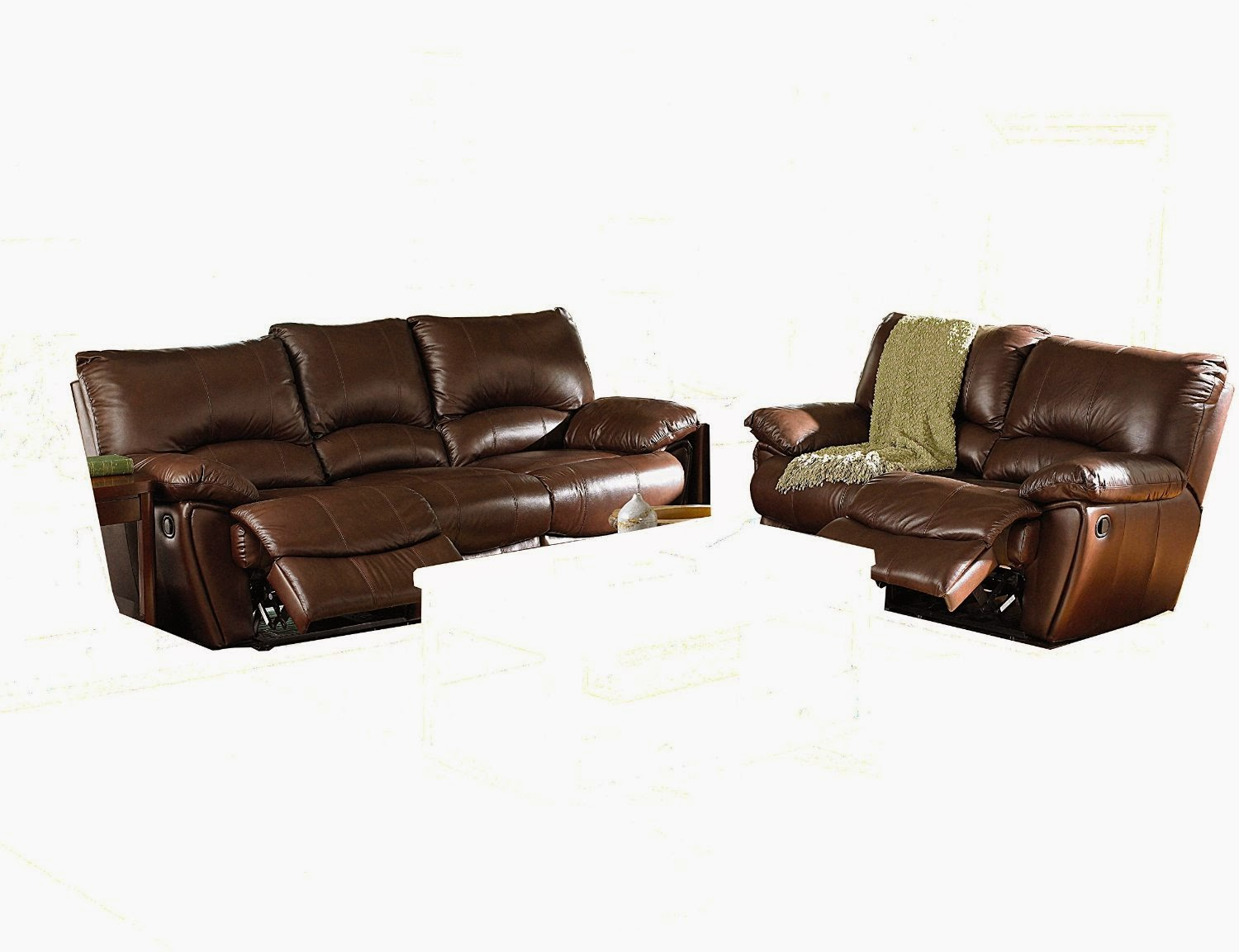 Best Reclining Sofa For The Money: Whitaker Brown Reclining ...