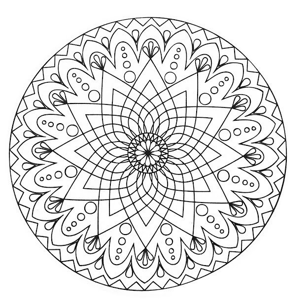 Simple Abstract Mandala From The Gallery  Mandalas  Easy Mandalafree Mandalasmandala  Coloring Pagescoloring