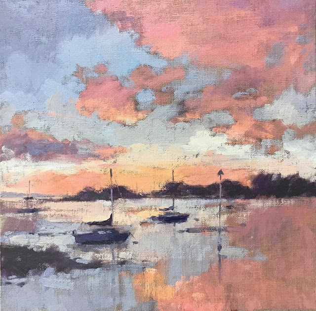 #409 'First Light, Langstone' 12×12″