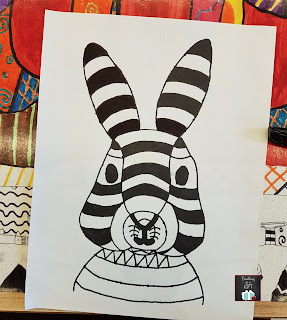 Picture of Pop Art Easter Bunny @teachingisgift.blogspot.ca