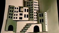 Як зробити об'ємне паперове місто з одного аркуша?