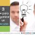 3 tips para organizar las ideas de un discurso