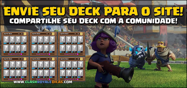 Compartilhar Deck Clash Royale