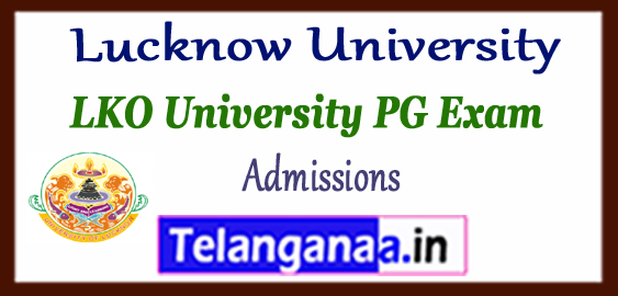 Lucknow University PG MA M.Com M.Sc M.Ed Admissions 2018
