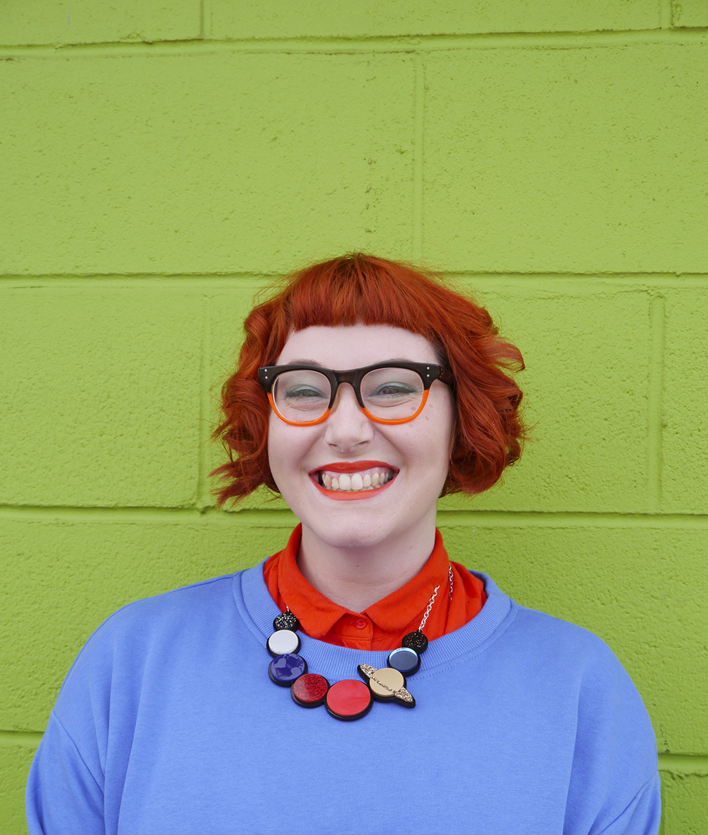 Colourful style inspired by Chuckie from Rugrats featuring vintage glasses and retro Sugar & Vice