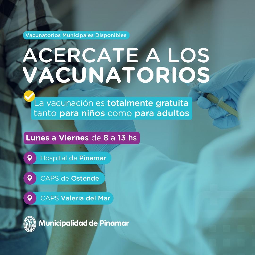 Información Municipal. Vacunación, Protegete y Protegé