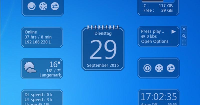 descargar gadgets reloj digital windows 7