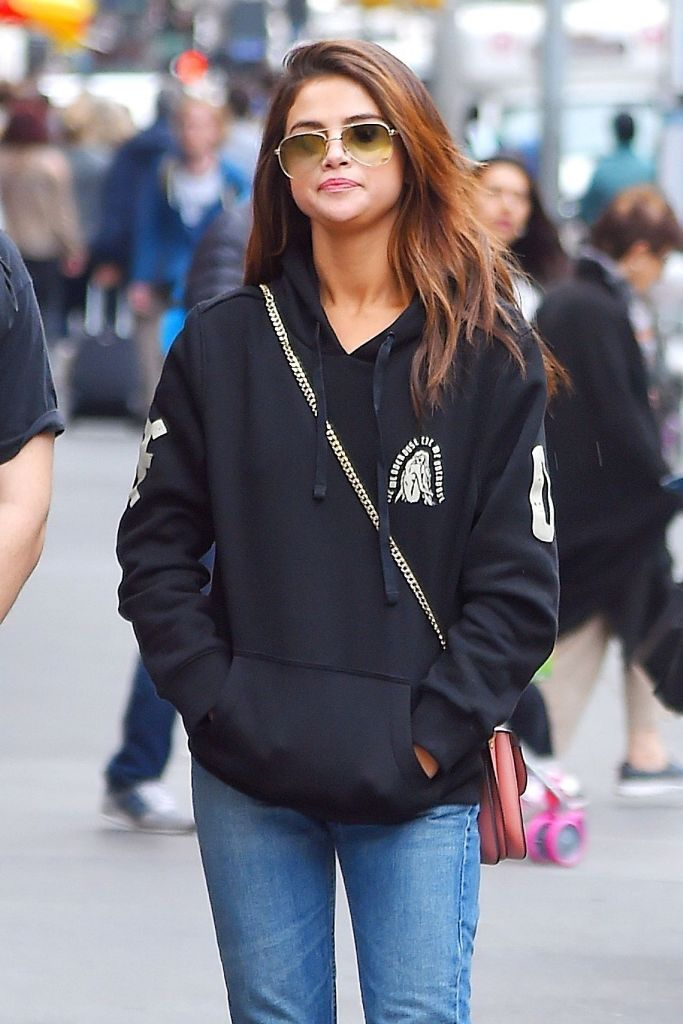 Selena Gomez Style Outfit in Times Square in NYC