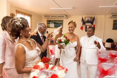 sortie des mariés guadeloupe mairie de pointe noire