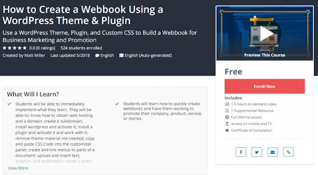 [100% Free] How to Create a Webbook Using a WordPress Theme & Plugin