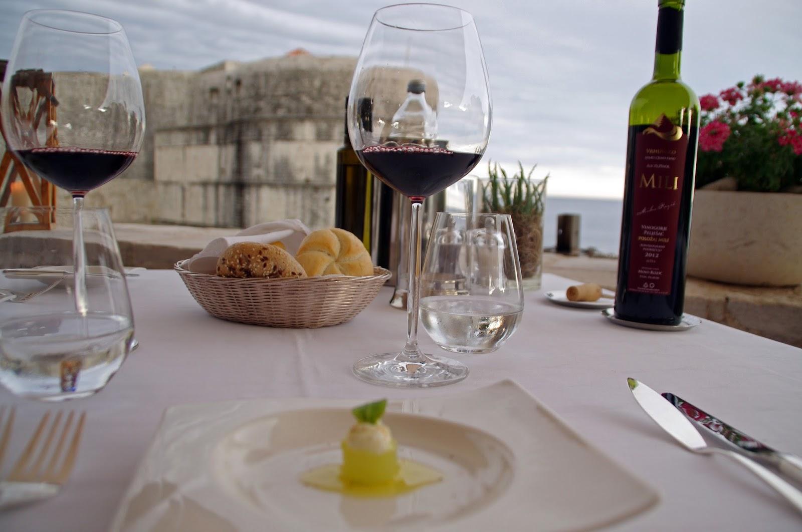 Appetiser and breads Nautika Restaurant Dubrovnik