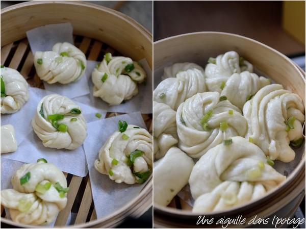 Hua juan, pain chinois torsadé à la vapeur