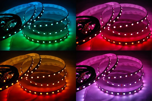 RGB LED light strips for ceiling
