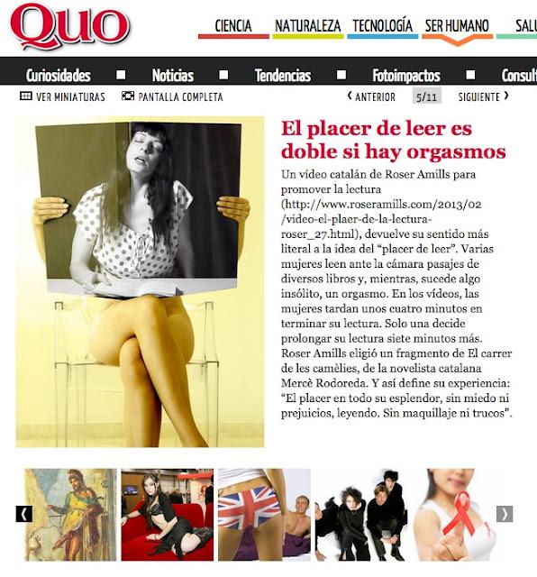 revista QUO | El placer de leer es doble si hay orgasmos