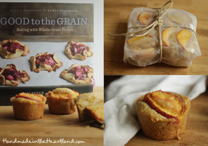 Ginger Peach Muffins, Good to the Grain