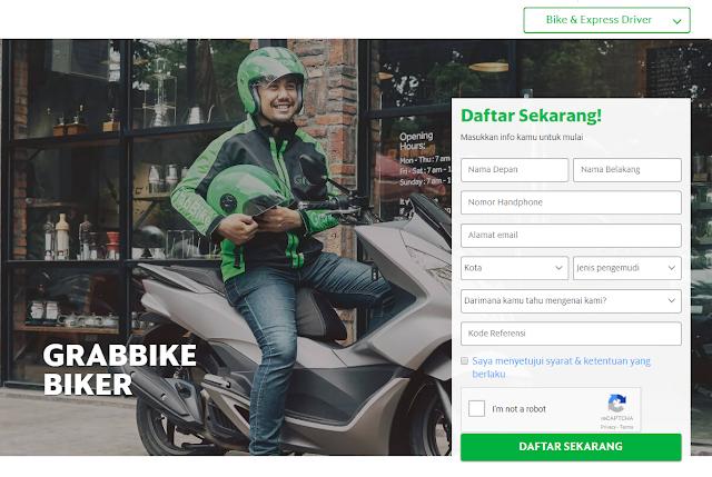 Cara daftar grabbike Medan Secara Online 2018