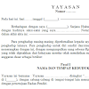 Contoh Surat Resmi Akta Pendirian Yayasan Format Word