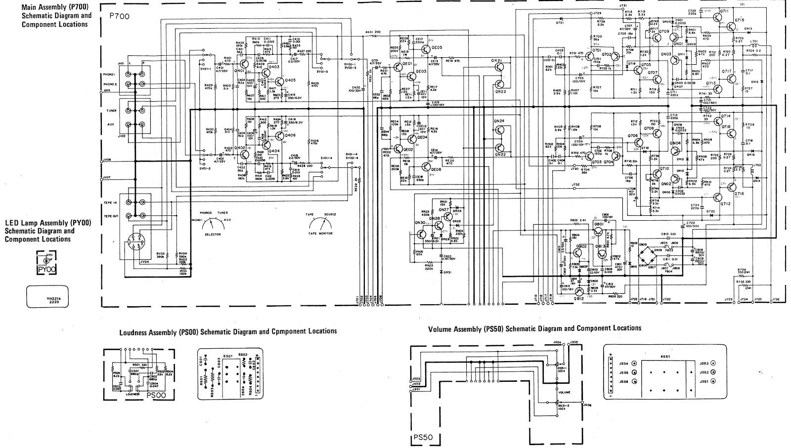 Marantz 1072 Marantz 1050 Stereo Amplifier Schematic