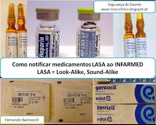 Como notificar medicamentos LASA ao INFARMED