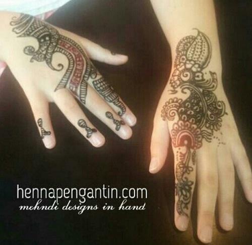 Henna Tangan Henna Tangan Pengantin