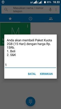 Cara Daftar Paket Internet Telkomsel 2GB 15rb Terbaru