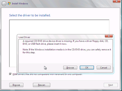 penyebab Gagal Install Windows Karena Missing Driver