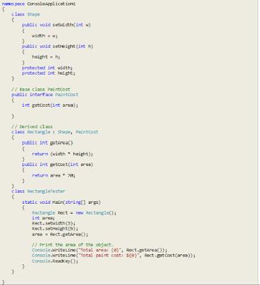 Multiple Inheritance in C#