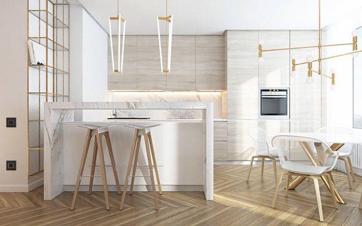 thiết kế thi công nội thất nhà bếp độc đáo 7