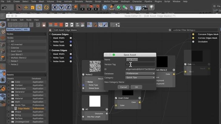 Tutorial C4D: Cara Membuat Dan Membagikan Aset Node Di Cinema 4D