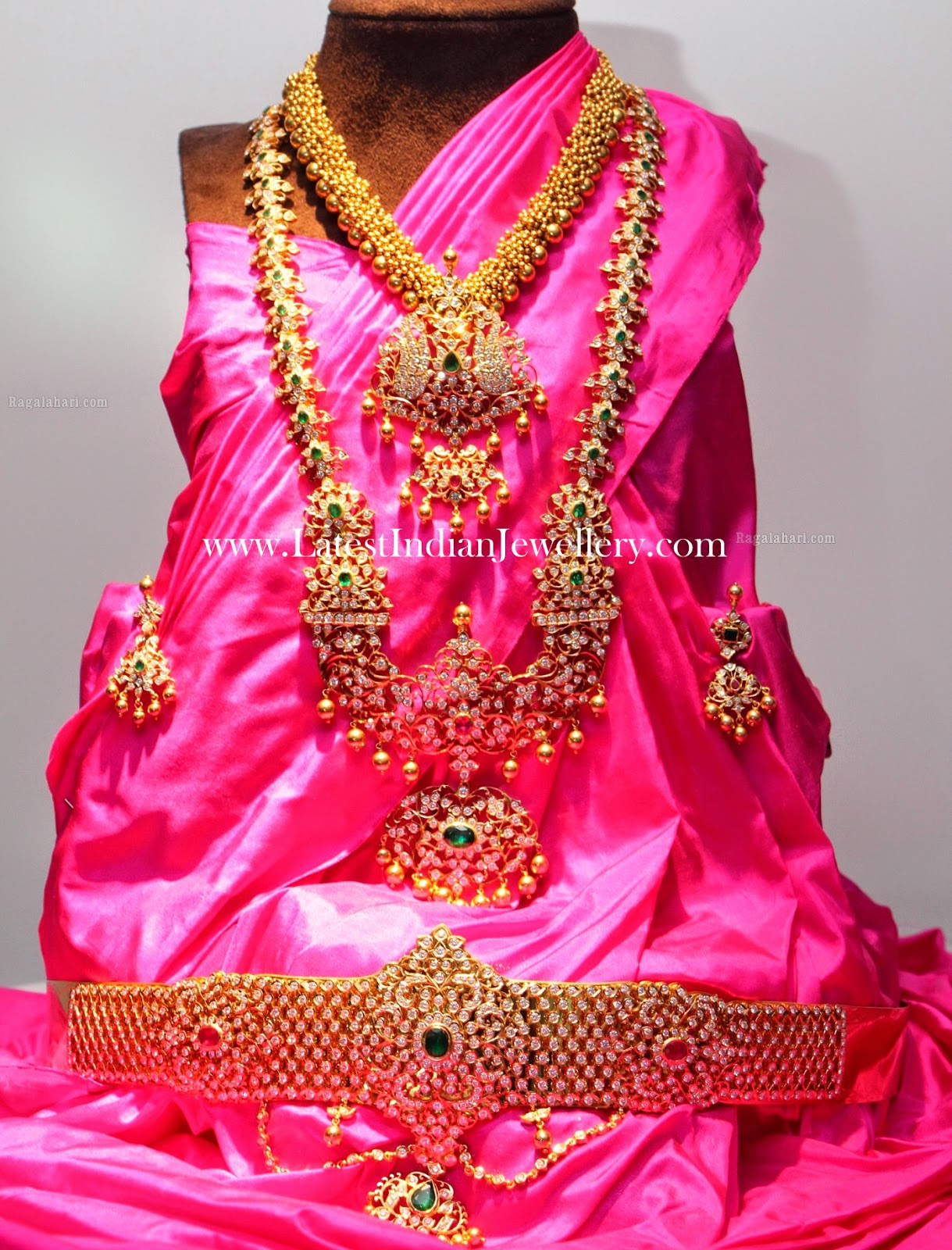 Diamond Indian Jewellery Vaddanam Set