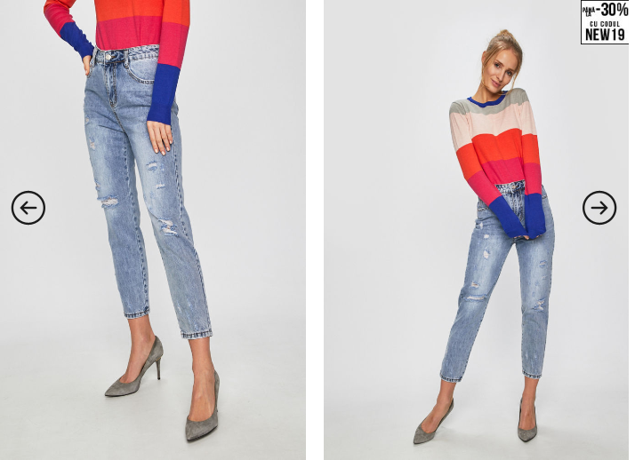 Answear - Jeansi moderni drepti la moda albastri