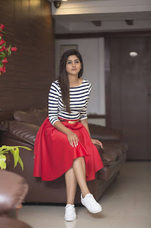 Varshini Sounderajan Long Legs Show In Mini Red Skirt (5)