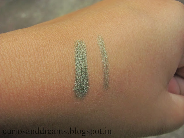 Maybelline Eye Studio Vivid and Smooth Liner Olive Review, Maybelline Eye Studio Vivid and Smooth Liner Olive swatch, Maybelline Eye Studio Vivid and Smooth Liner Olive EOTD
