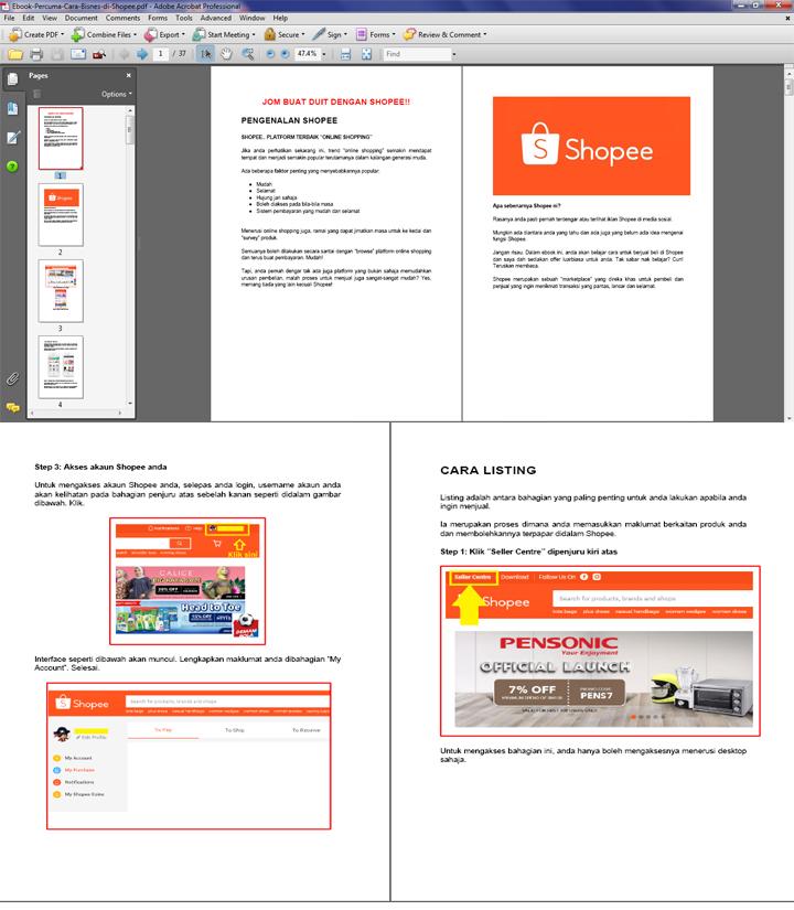 Ebook Percuma - Panduan & Cara Nak Mula Berniaga di Shopee