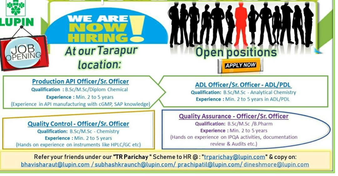 All pharma Jobs : LUPIN LIMITED - Urgently Hiring for QA / QC