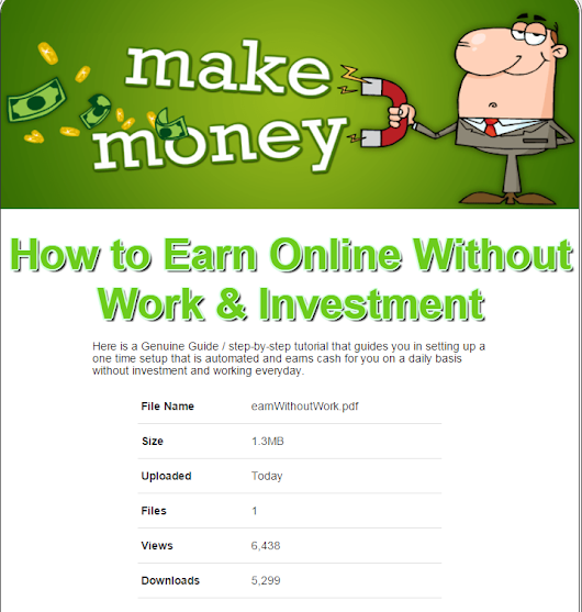 How to Earn Online Without Work & Investment