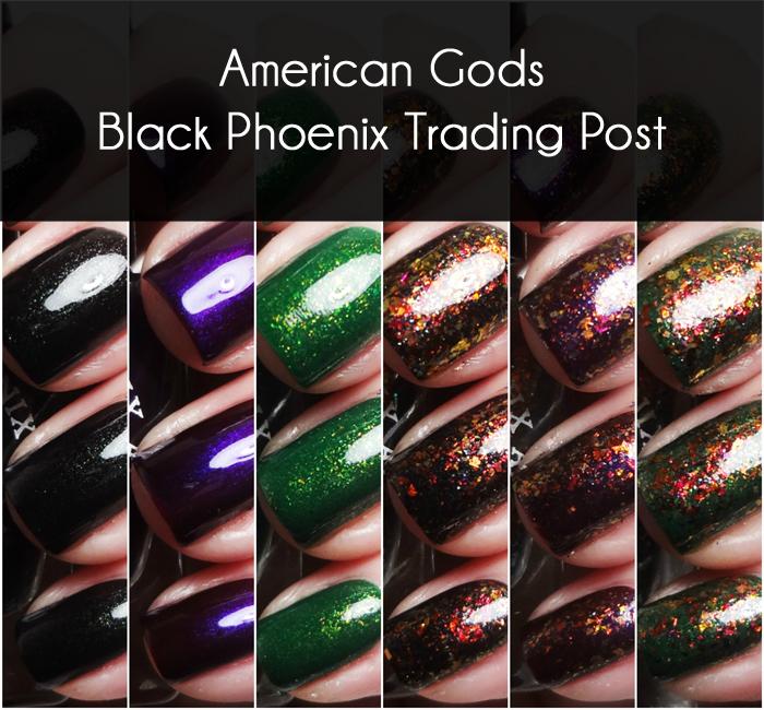 xoxoJen's swatch of Black Phoenix Alchemy Lab American Gods Collage